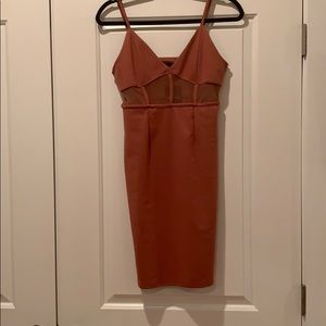 Dusty pink cut out dress